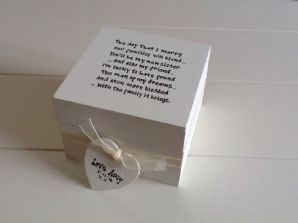 Shabby Personalised Chic Gift For Sister In Law From Bride.. Wedding Trinket Box
